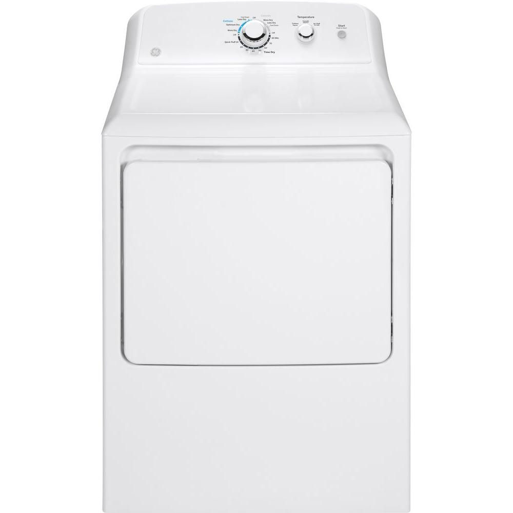 GE 6.2 cu. ft. 240 Volt White Electric Vented Dryer