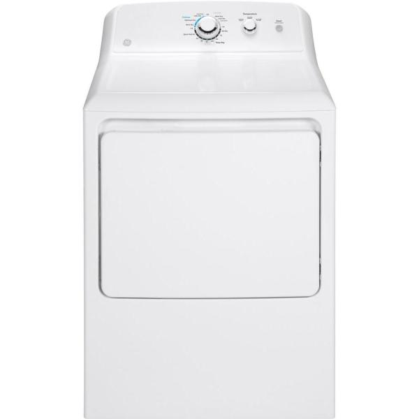 Ge 6 2 Cu Ft 240 Volt White Electric Vented Dryer Gtx33easkww The Home Depot