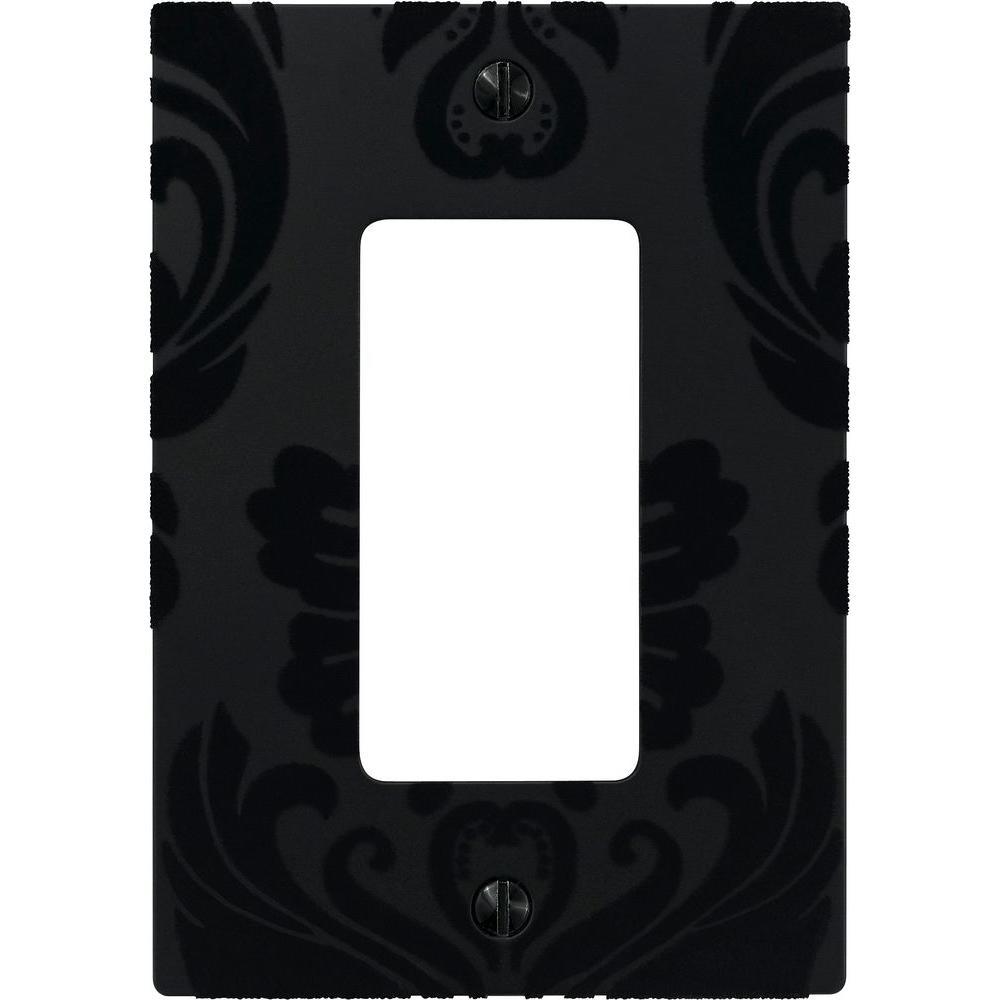 Velvet 1 Decora Wall Plate - Black