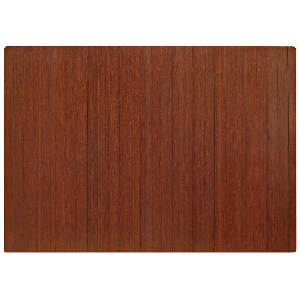 Standard Dark Brown Mahogany 48 in. x 72 in. Bamboo Roll-Up