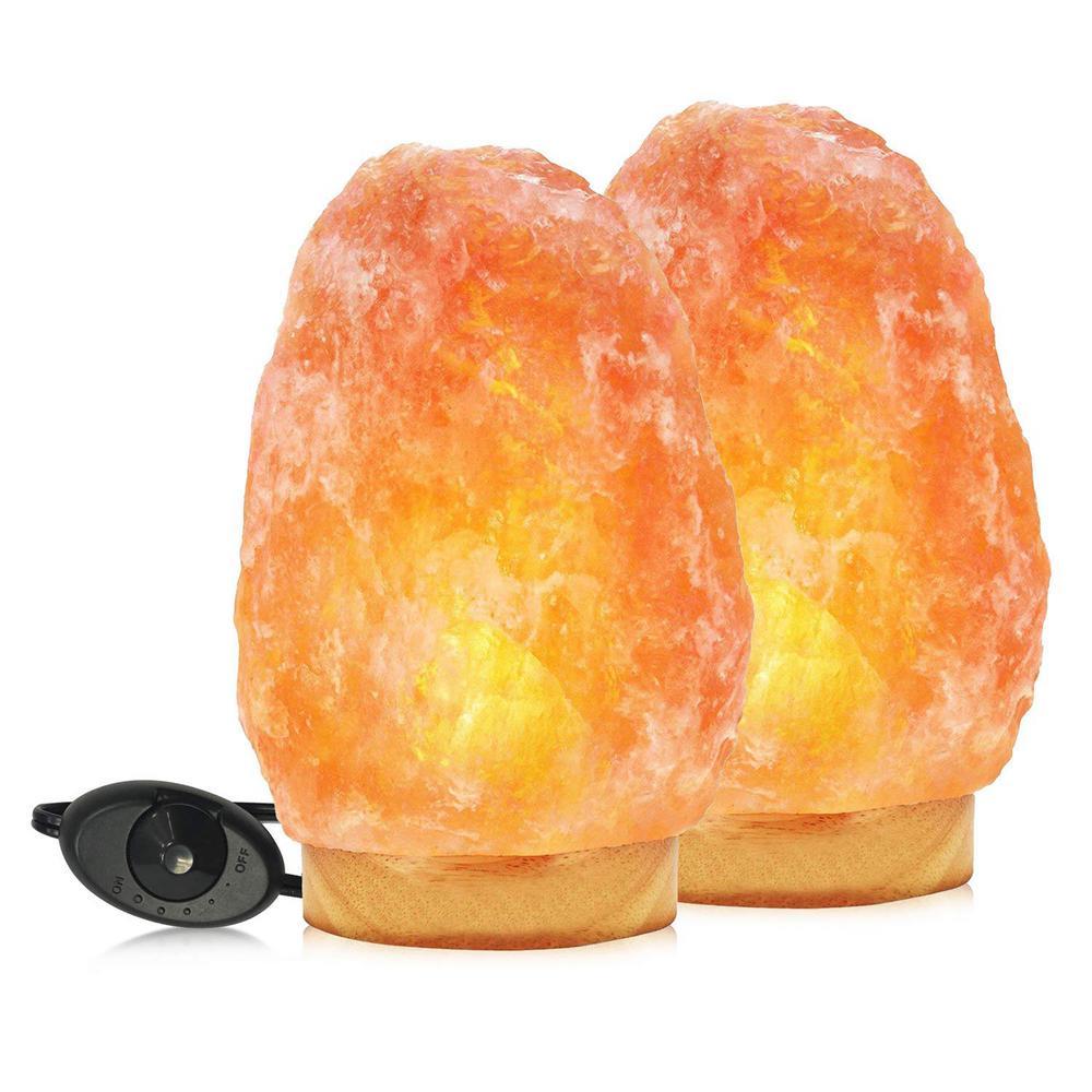 9.25 in. 11-15 lbs. Himalayan Natural Crystal Salt Lamp (2-Pack)