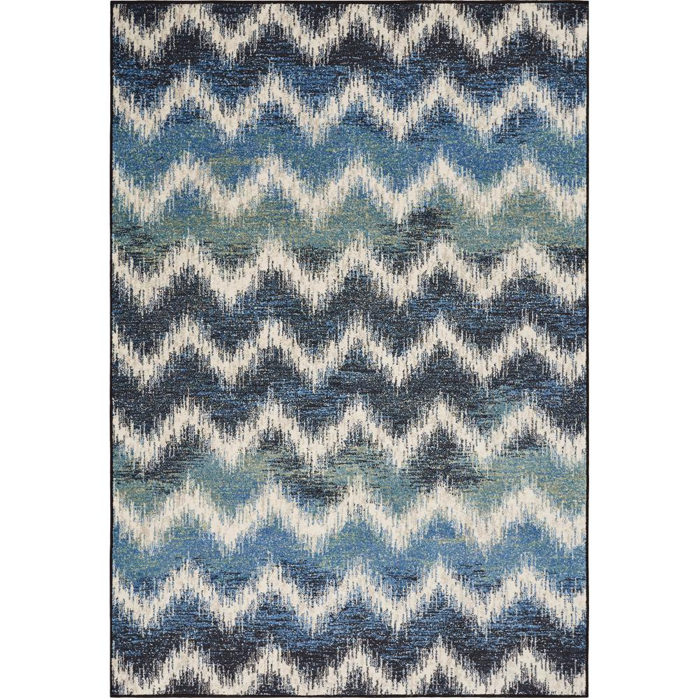 Kas Rugs Laguna Shades of Blue 5 ft. x 8 ft. Chevron Area Rug was $110.01 now $60.51 (45.0% off)