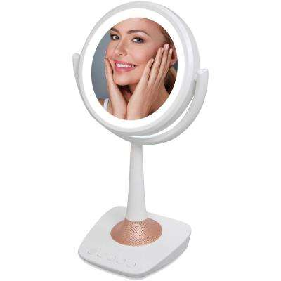 Lighted Makeup Mirror and Bluetooth Speaker