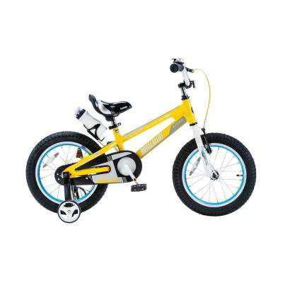 Space No. 1 Kid's Bike, Boy's Bikes and Girl's Bikes, lightweight Aluminum, with 18 in. Training Wheels in Yellow
