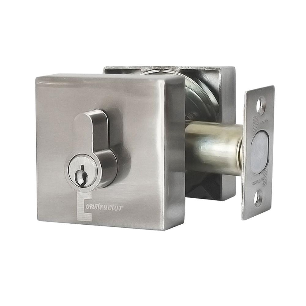 Constructor Guardian Double Cylinder Satin Nickel Finish Deadbolt  sc 1 st  Home Depot & Constructor Guardian Double Cylinder Satin Nickel Finish Deadbolt ...