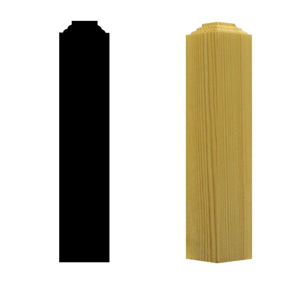 1-1/4 in. x 1-1/4 in. x 6 in. Pine Outside Corner Block