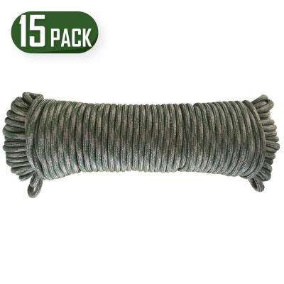 100 ft. Camo Paracord Rope (15-Pack)