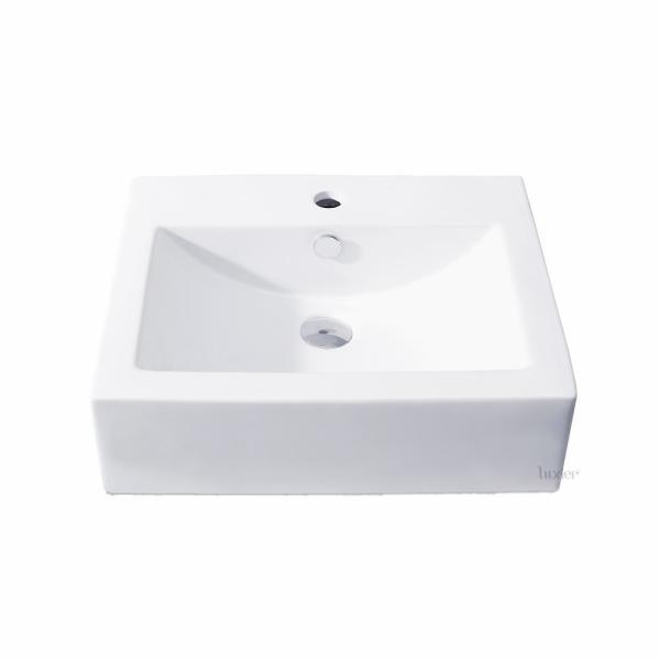 Luxier Rectangular Bathroom Ceramic Vessel Sink Art Basin In White Cs 003 The Home Depot