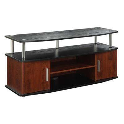 Designs2Go Monterey Cherry and Black Storage Entertainment Center