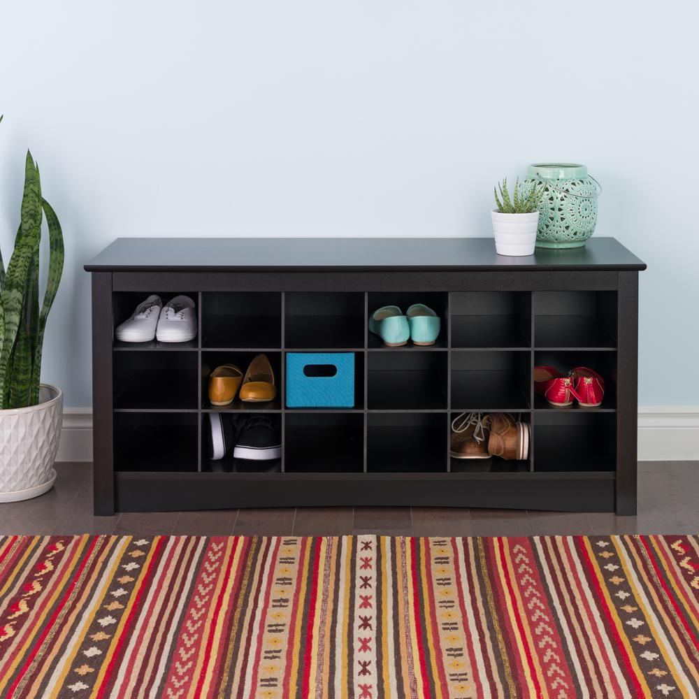 Beau Prepac Sonoma Black Storage Bench