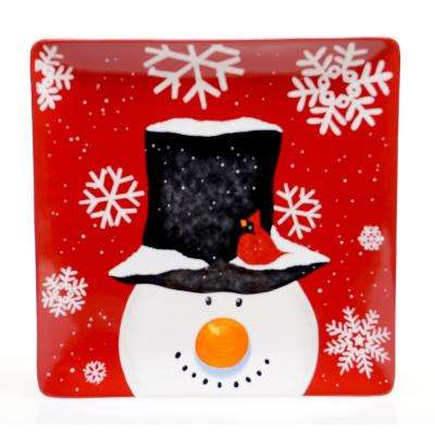 Top Hat Earthenware Square Platter