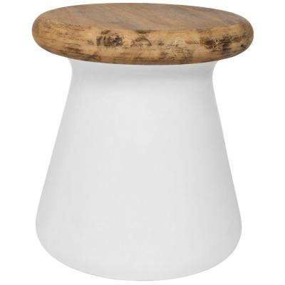 Button Ivory Stone Indoor/Outdoor Accent Table