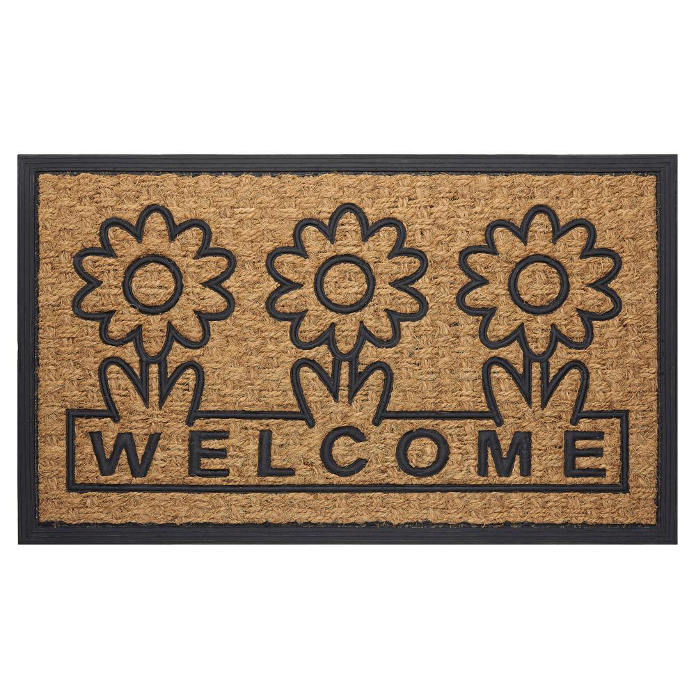 Calloway Mills Periwinkle Border 18 In X 30 In Monogram D Door Mat 153021830d The Home Depot