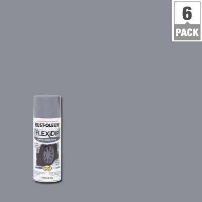 11 oz. Matte Dark Gray Removable Rubber Coating Spray (6-Pack)