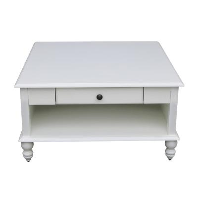 Cottage Beach White Square Coffee Table