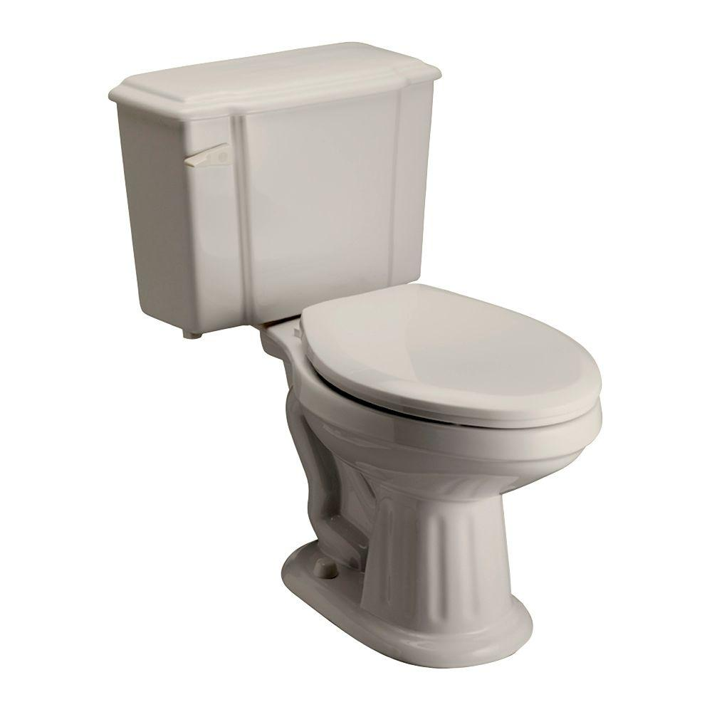 Pegasus Vicki 2-piece 1.6 GPF Elongated Toilet in Bisque
