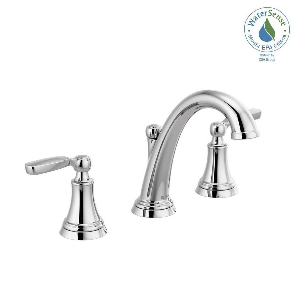 Woodhurst 8 in. Widespread 2-Handle Bathroom Faucet in Chrome