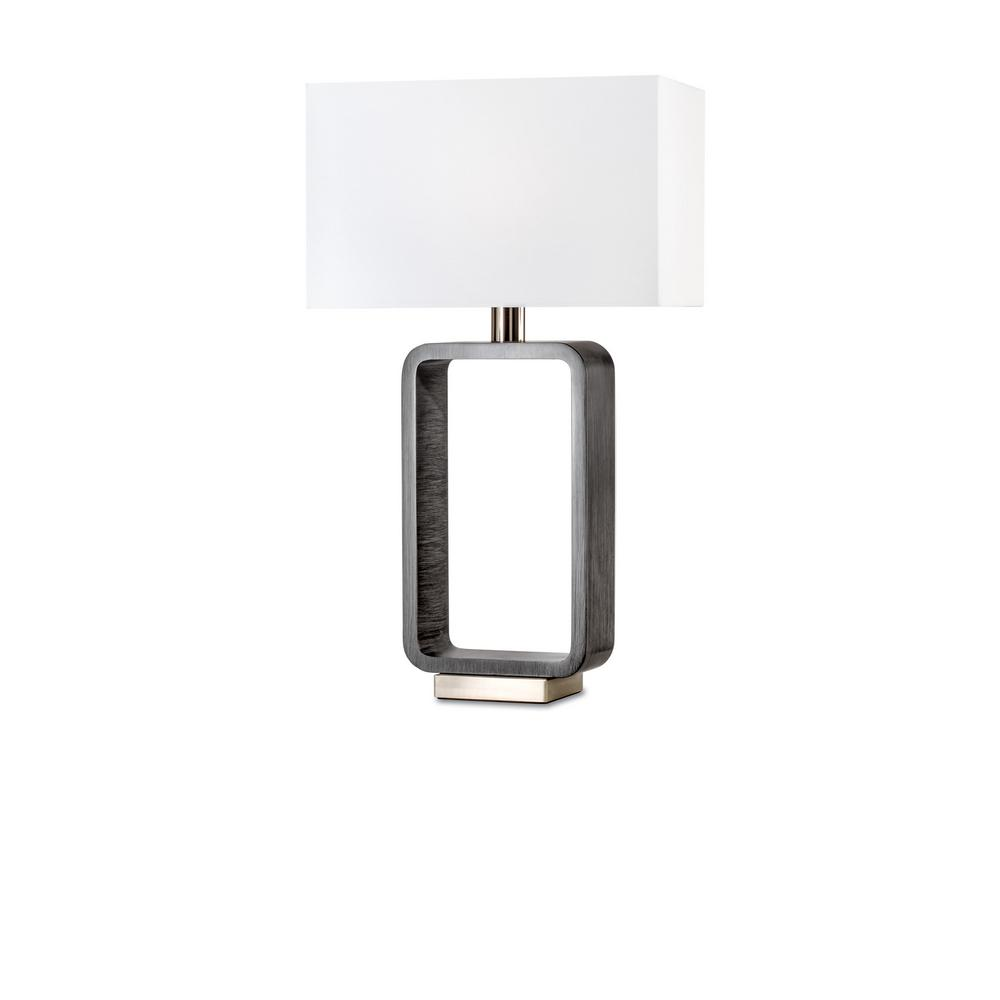 NOVA of California Tracey 28 in. Charcoal Gray Rectangular Table Lamp
