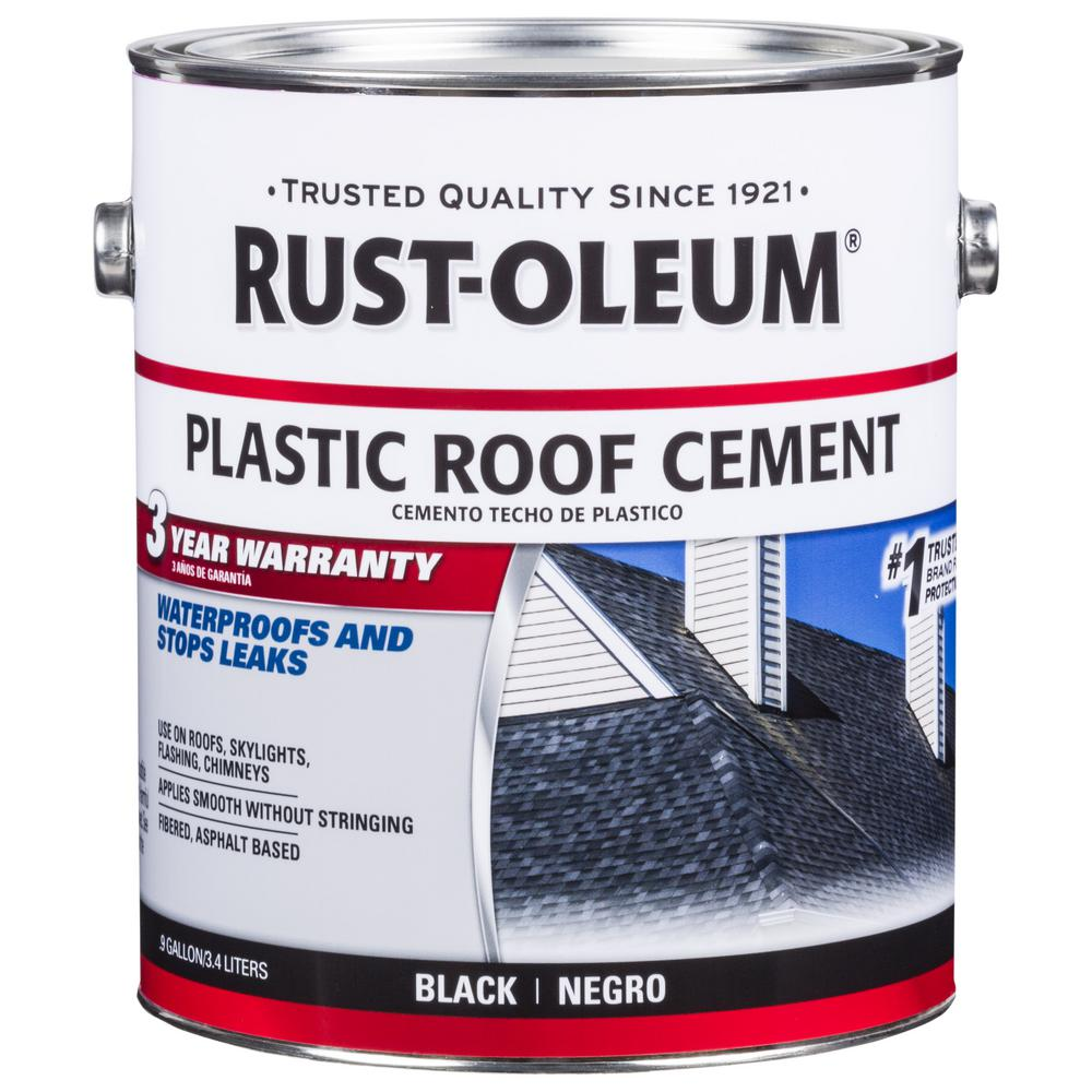 Rust Oleum 0 9 Gal All Weather Black Plastic Cement