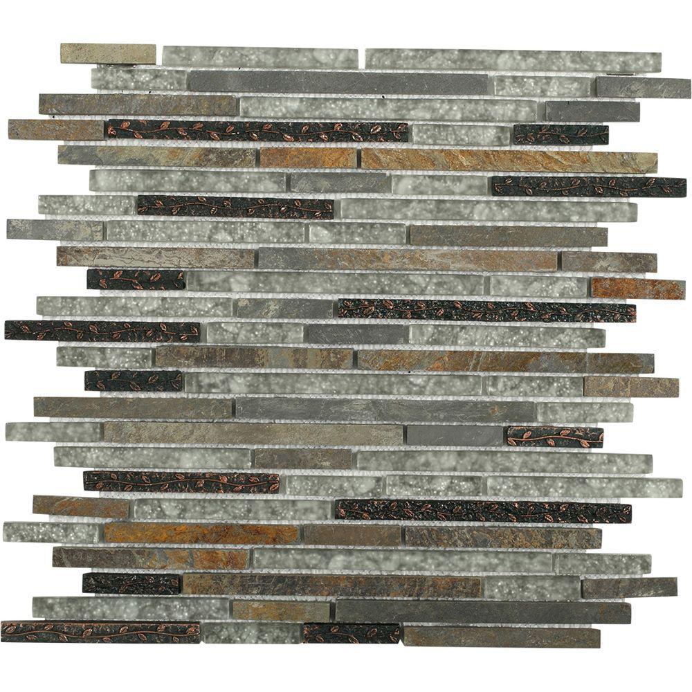 Splashback Tile Paradise Utopia Glass Wall Tile - 3 in. x 6 in ...