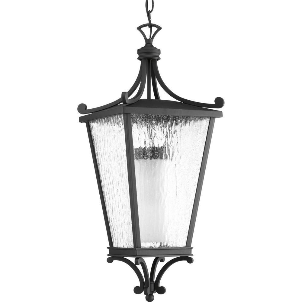 Progress Lighting Cadence Collection 1-Light Black Hanging Lantern