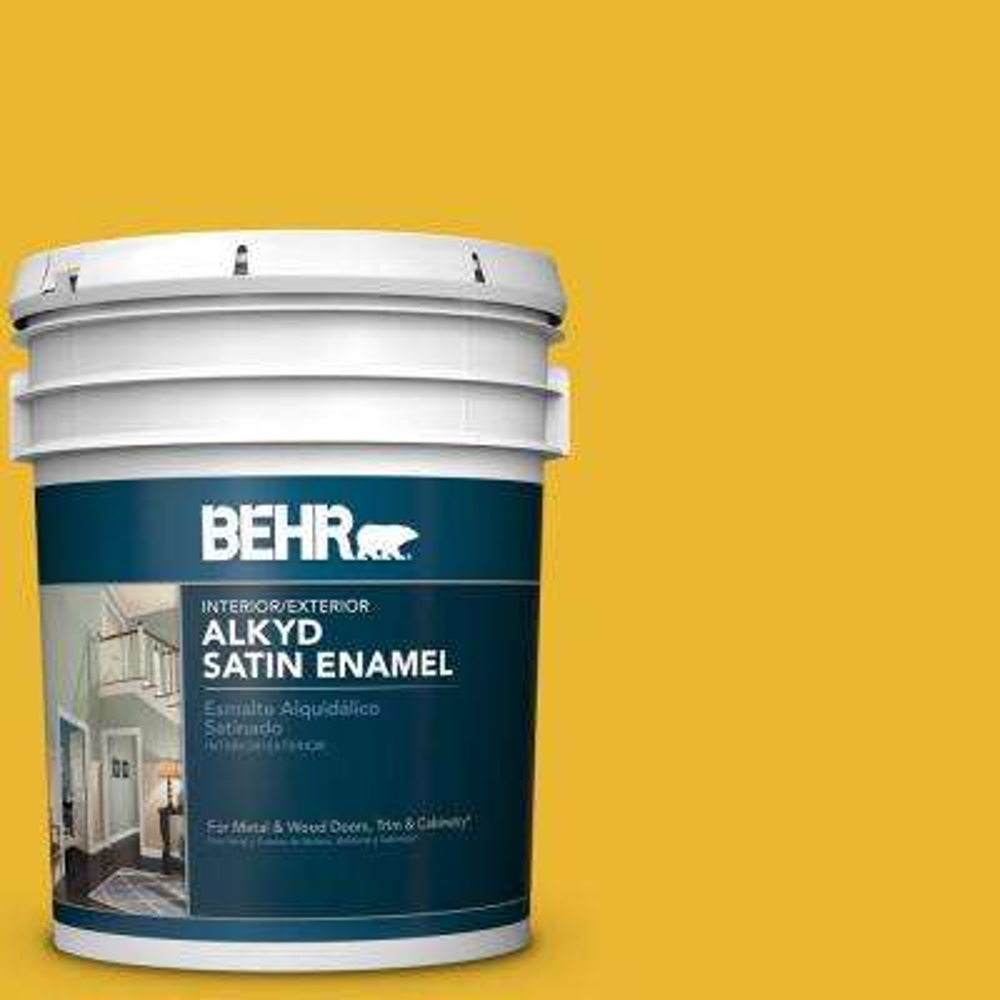 5 gal. #OSHA-6 Safety Yellow Satin Enamel Alkyd Interior/Exterior Paint