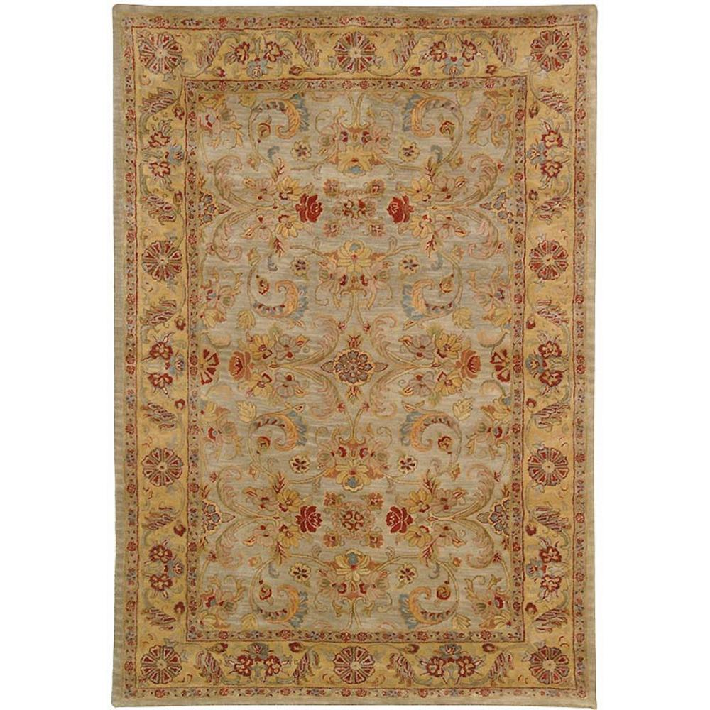 Classic Light Green/Gold 2 ft. x 3 ft. Area Rug