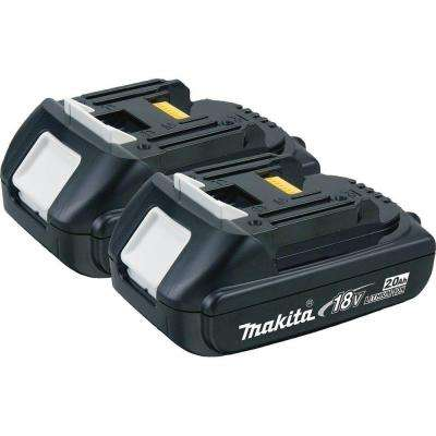 """18-Volt LXT Lithium-Ion Compact Battery Pack 2.0Ah (2-Pack)"""