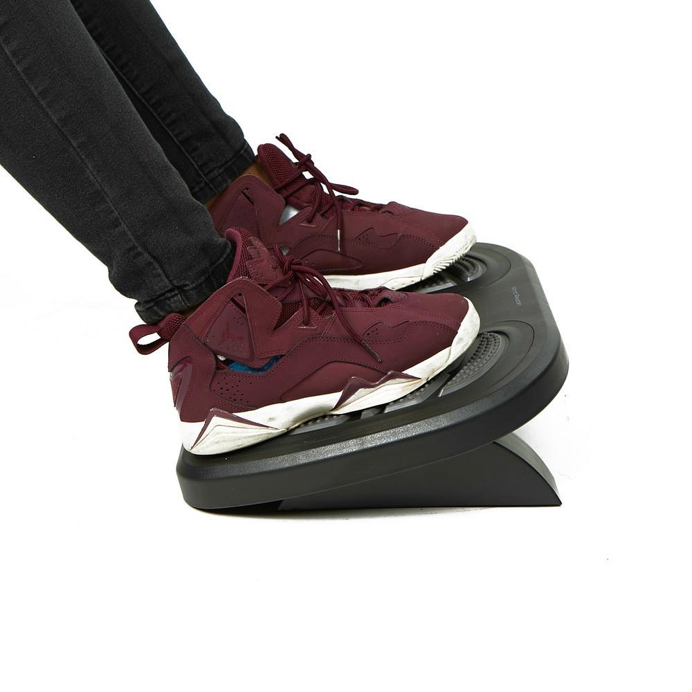 Black and Gray Adjustable Height Non-Slip Ergonomic Foot Rest