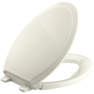 Rutledge Quiet-Close Elongated Toilet Seat with Q3 Advantage in Biscuit