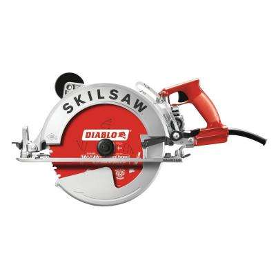 15 Amp Corded Electric 10-1/4 in. Magnesium SAWSQUATCH Worm Drive Circular Saw with 40-Tooth Diablo Carbide Blade