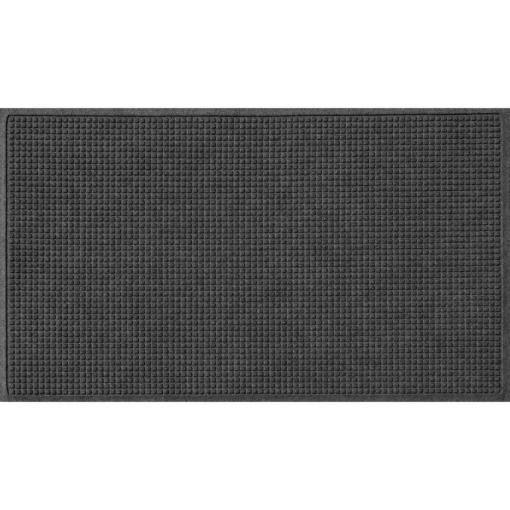 Charcoal 36 in. x 120 in. Squares Polypropylene Door Mat