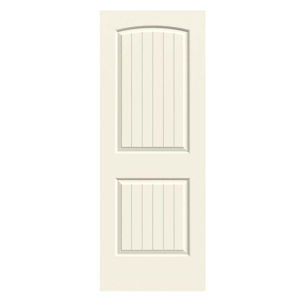36 in. x 80 in. Santa Fe Vanilla Painted Smooth Solid