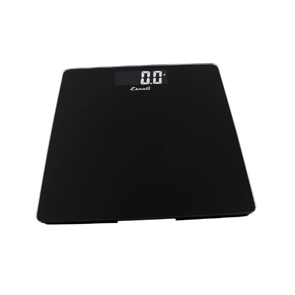 e9c6b84d2b8d Escali Digital Glass Platform Bathroom Scale in Black