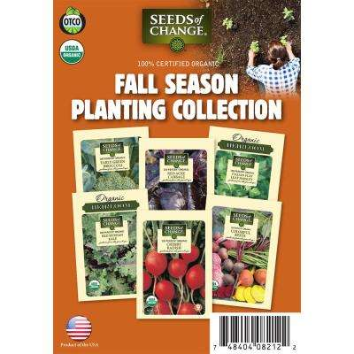 Organic Fall Season Planting Vegetable Seeds Collection (6-Pack)