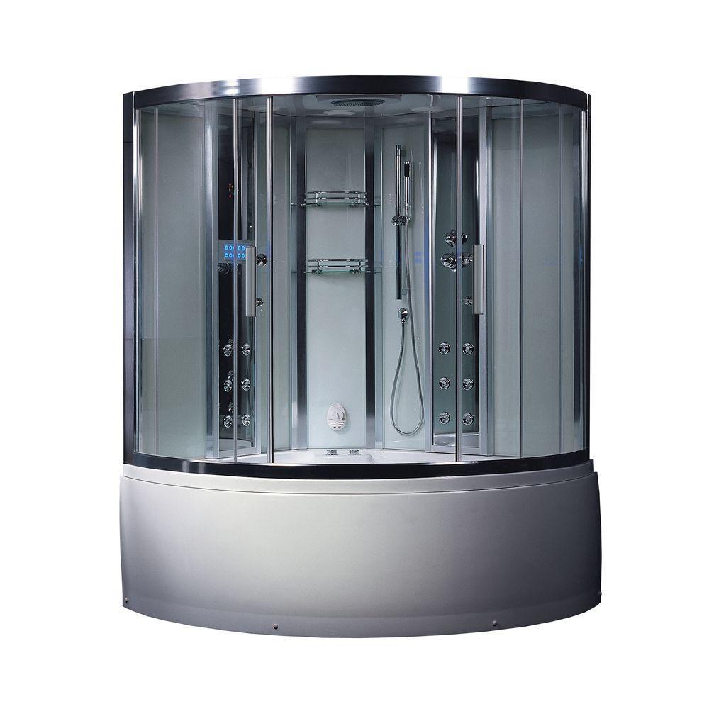 Ariel Platinum 59 in. x 89 in. x 59 in. Steam Shower Enclosure Kit ...