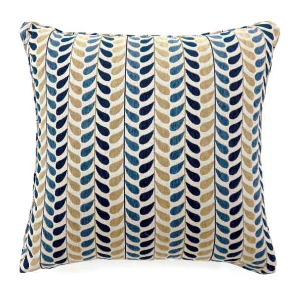 Dropp 18 in. Contemporary Throw Pillow in Blue and Yellow (Pack of 2)