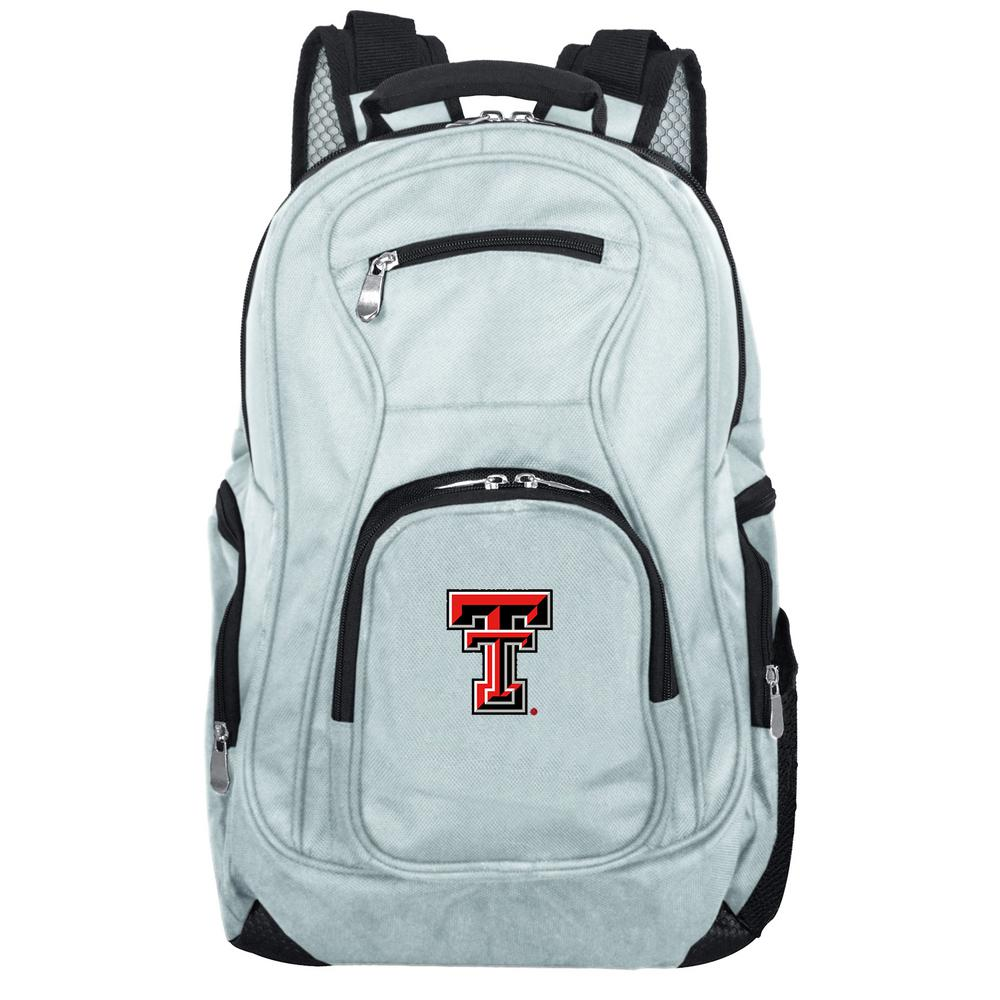 822e6a2b10 Denco NCAA Texas Tech Red Raiders 19 in. Gray Laptop Backpack-CLTTL704 GRAY  - The Home Depot