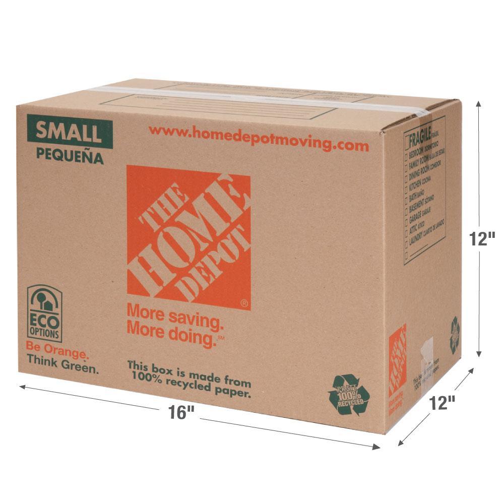 The Home Depot 16 in. L x 12 in. W x 12 in. D Small Moving Box
