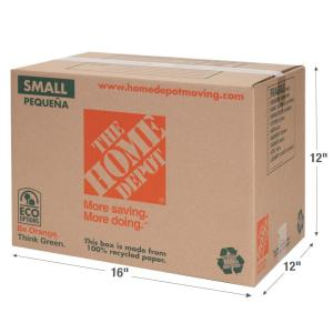 The Home Depot 16 in. L x 12 in. W x 12 in. D Small Box-1001004 ...