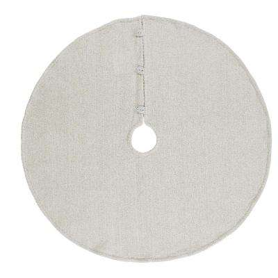 48 in. Creme Nowell Farmhouse Christmas Decor Tree Skirt