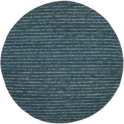 Bohemian Dark Blue/Multi 4 ft. x 4 ft. Round Area Rug
