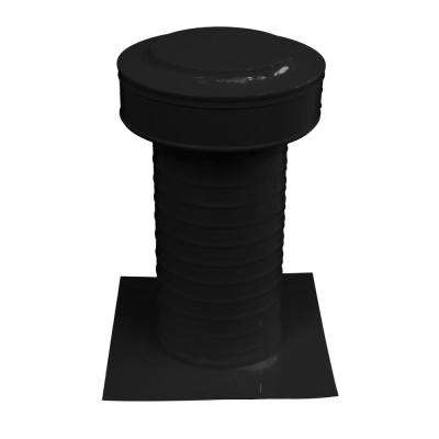 Keepa Vent 6 in. Dia Aluminum Roof Vent for Flat Roofs in Black
