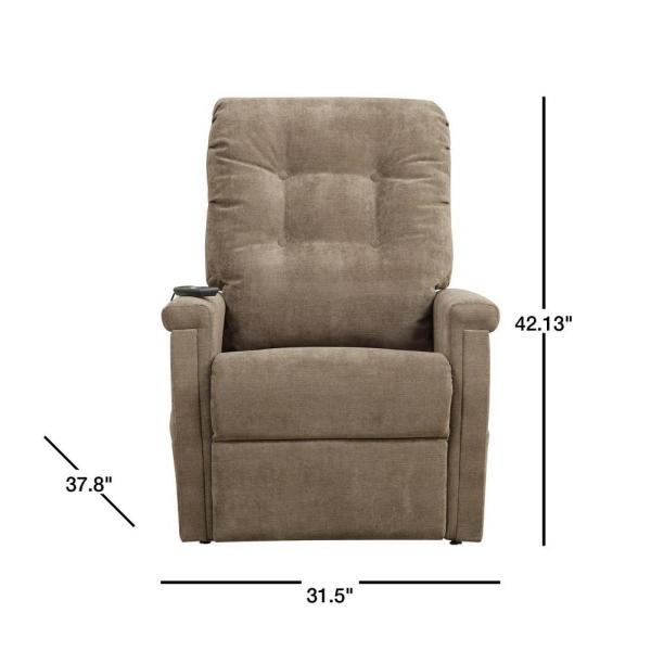 PRI Brown Fabric Power Lift Recliner DS 1667 016 051 Oopes