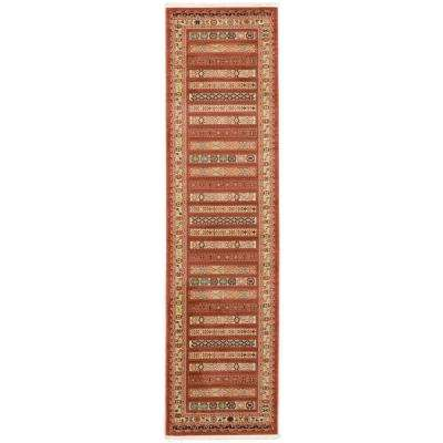 Fars Pasadena Rust Red 2' 7 x 10' 0 Runner Rug
