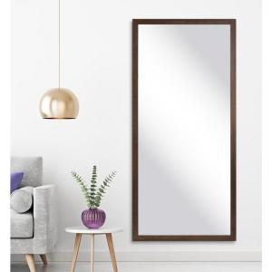 Oversized Distressed Brown Wood Hooks Farmhouse Rustic Mirror (63 in. H X 29.5 in. W)