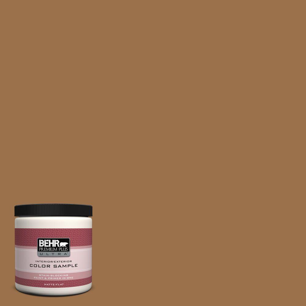 BEHR Premium Plus Ultra 8 oz. #PPU4-17 Olympic Bronze Interior/Exterior Paint Sample