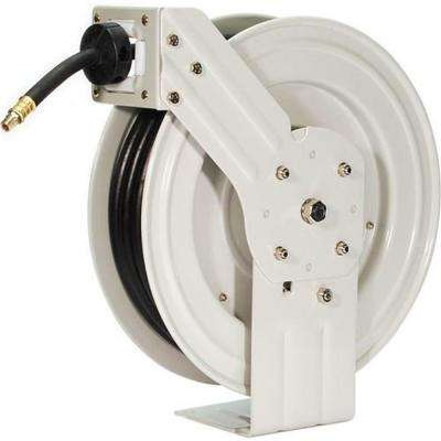50 ft. Industrial Grade Retractable Air Hose Reel with Rubber Air Hose