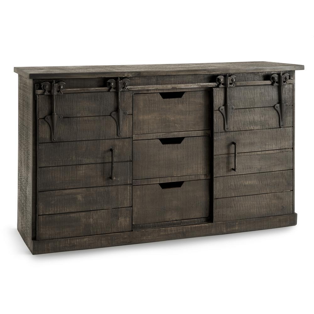 Wyatt Grey Barn Door Console