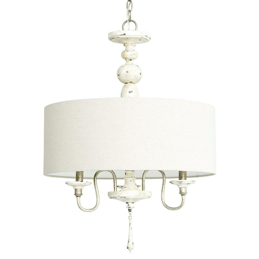Progress Lighting Annecy Collection 3-light Antique Distressed Ivory ...
